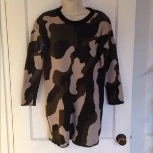 Sweaters - Long Camo Sweater